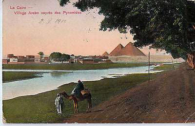 Vintage Postcard of Le Caire Pyramides Dated 2-3-1911 $20.00