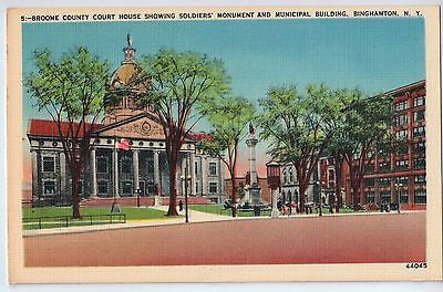 Vintage Postcard of The Broome County Court House Binghamton, N.Y. $10.00