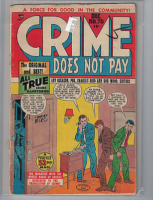Crime Does Not Pay Issue # 70 Comic House Comics $40.00