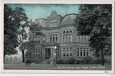 Vintage Postcard of The De Witt County Court House, Clinton, IL $10.00