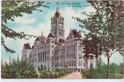 Vintage Postcard of The City and County Building in Salt Lake City, Utah $10.00