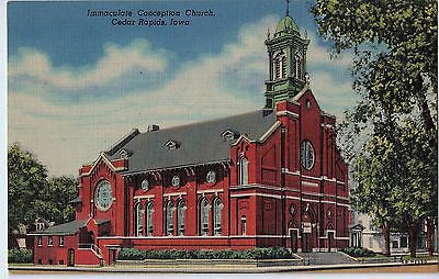 Vintage Postcard of Immaculate Conception Church, Cedar Rapids, Iowa $10.00