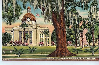 Vintage Postcard of The Volusia County Court House in De Land, FL $10.00
