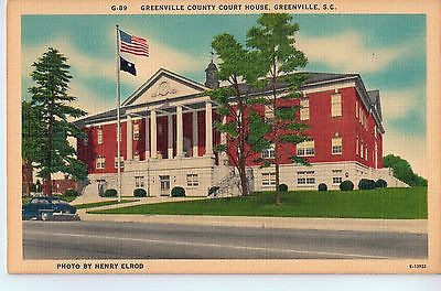 Vintage Postcard of The Greenville County Court House in Greenville, SC $10.00