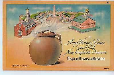 Vintage Postcard of New England's Famous Baked Beans in Boston $10.00
