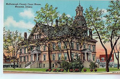 Vintage Postcard of McDonough County Court House in Macomb, IL $10.00