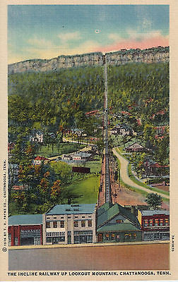 Vintage Postcard Incline Railway up Lookout Mountain, Chattanooga, TN $10.00