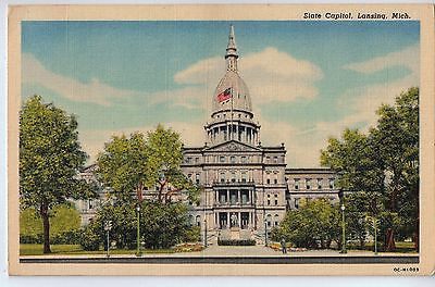 Vintage Postcard of State Capitol Lansing, Michigan $10.00