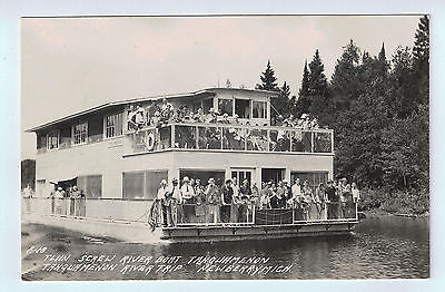 Vintage Picture Postcard of The Twin Screw River Boat in Newberry, MI $10.00