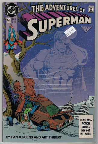 Adventures of Superman Issue # 474 DC Comics $3.00