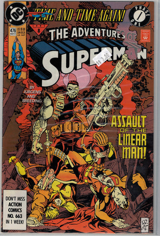 Adventures of Superman Issue # 476 DC Comics $3.00