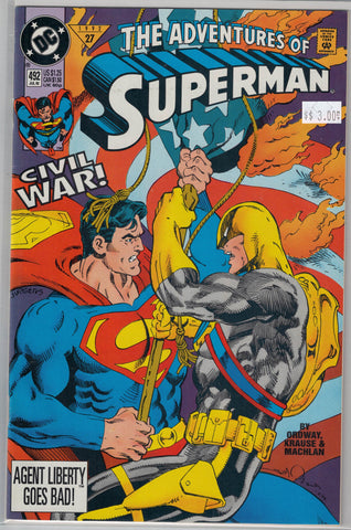 Adventures of Superman Issue # 492 DC Comics $3.00