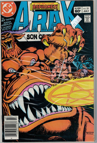 Arak: Son of Thunder Issue #23 DC Comics  $3.00