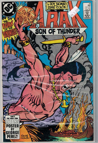 Arak: Son of Thunder Issue #31 DC Comics  $3.00