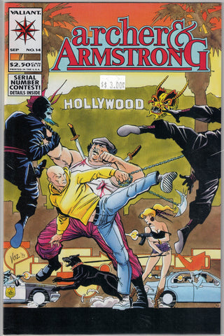Archer & Armstrong Issue #14 Valiant Comics $3.00