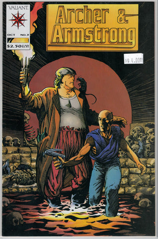 Archer & Armstrong Issue # 3 Valiant Comics $4.00