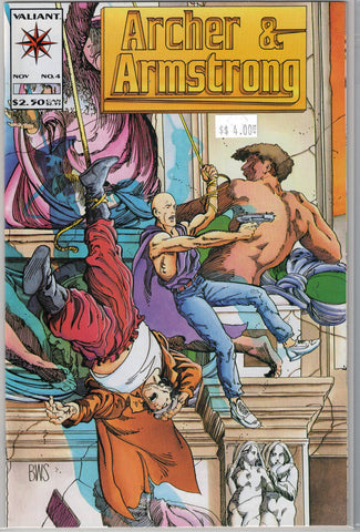 Archer & Armstrong Issue # 4 Valiant Comics $4.00