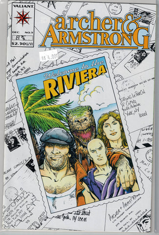 Archer & Armstrong Issue # 5 Valiant Comics $4.00