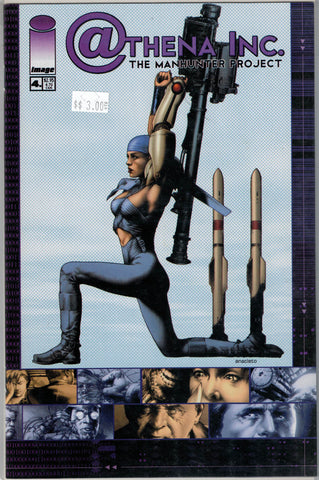 Athena Inc. The Manhunter Project Issue 4B Image Comics $3.00