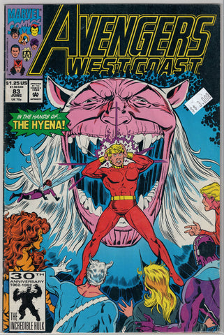 Avengers West Coast Issue # 83 Marvel Comics $3.00