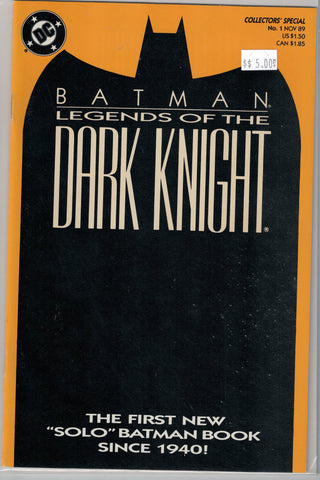 Batman Legends of the Dark Knight Issue # 1 (Yellow Cover) DC Comics $5.00