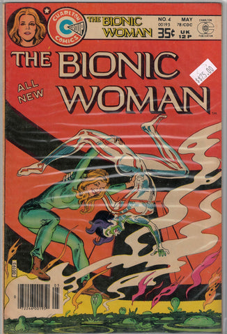 Bionic Woman Issue # 4 Charlton Comics $25.00
