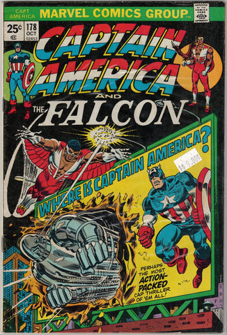 Captain America Issue #178 Marvel Comics $9.00