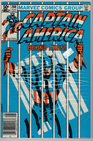 Captain America Issue #260 Marvel Comics $5.00