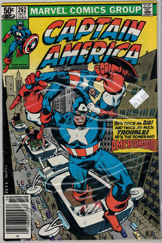 Captain America Issue #262 Marvel Comics $5.00