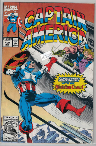 Captain America Issue #409 Marvel Comics $3.00
