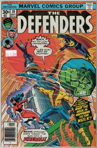 Defenders Issue #  39 Marvel Comics $6.00