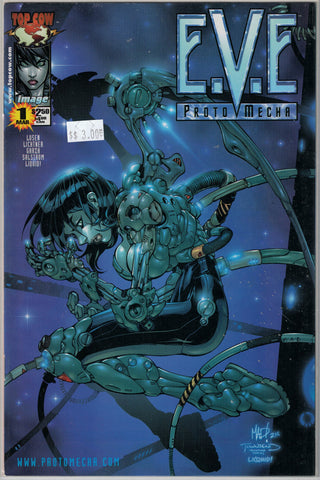 EVE Proto Mecha Issue 1 (Dark Blue Cover) Image/Top Cow Comics  $3.00