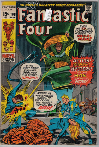 Fantastic Four Issue # 108 Marvel Comics  $18.00