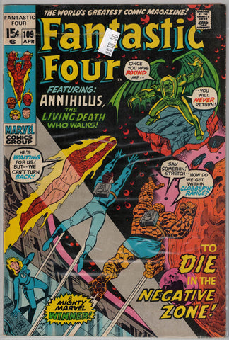 Fantastic Four Issue # 109 Marvel Comics  $18.00