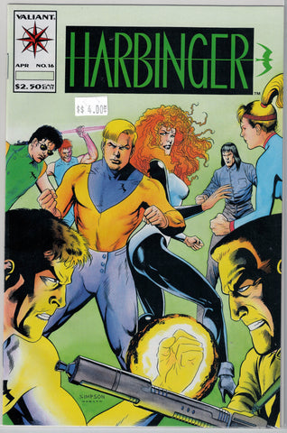 Harbinger Issue # 16 Valiant Comics $4.00