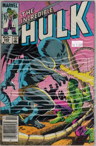 Incredible Hulk Issue # 292 Marvel Comics $5.00