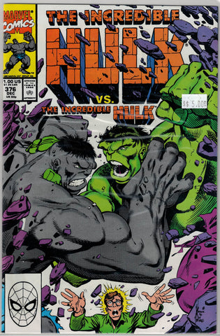 Incredible Hulk Issue # 376 Marvel Comics $5.00