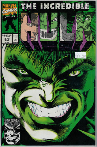 Incredible Hulk Issue # 379 Marvel Comics $4.00