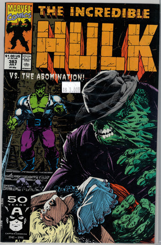 Incredible Hulk Issue # 383 Marvel Comics $3.00