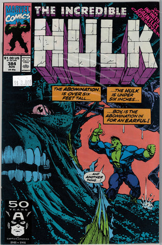 Incredible Hulk Issue # 384 Marvel Comics $3.00