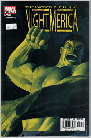 Hulk:Night America Issue # 5 Marvel Comics $3.00