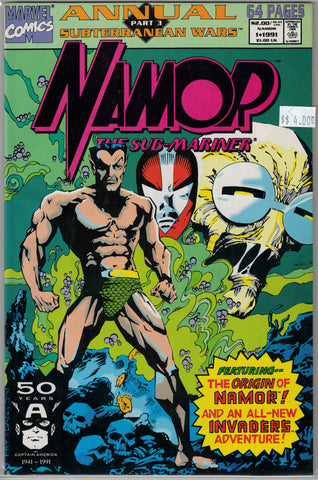 Namor Marvel Comics $4.00 Annual Issue 1