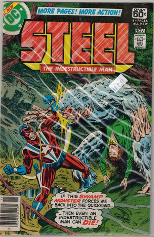 Steel The Indestructible Man Issue #  5 DC Comics $8.00