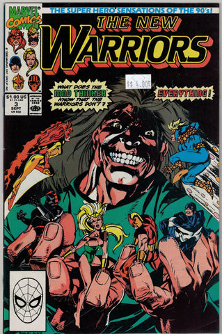 New Warriors Issue #  3 Marvel Comics $4.00