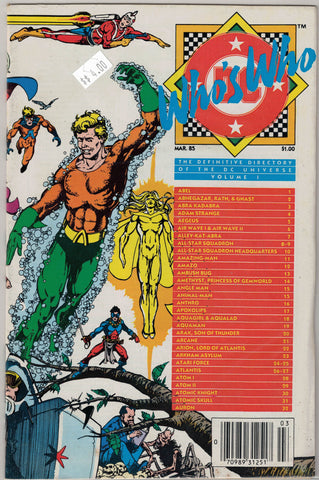Who's Who: Directory of the DC Universe Comics Issue #   1 DC Comics $4.00