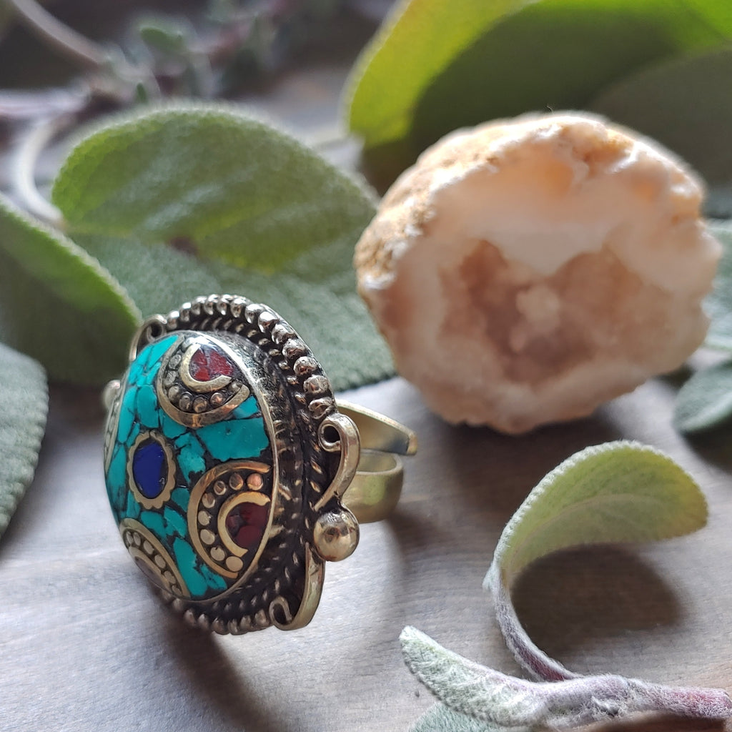 Decadent Nepalese Boho Ring