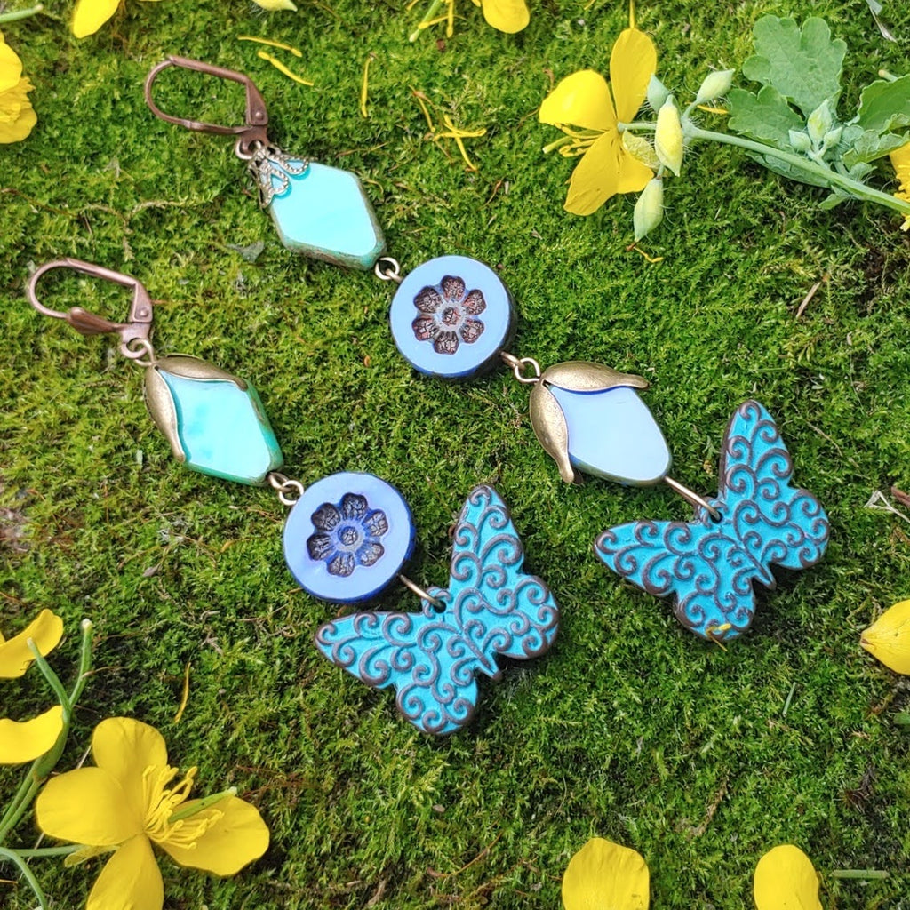 Brocade Sky Earrings