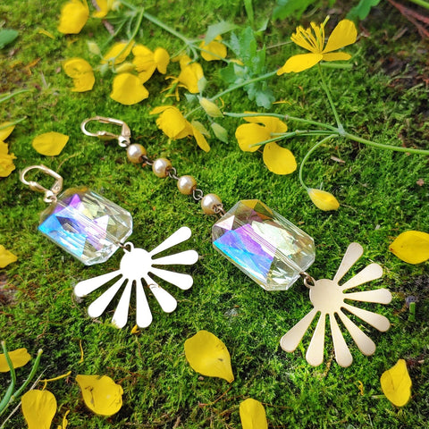 Crystalline Sun Quench Earrings