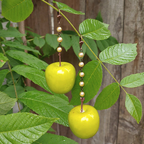Fancy Granny Smith Earrings