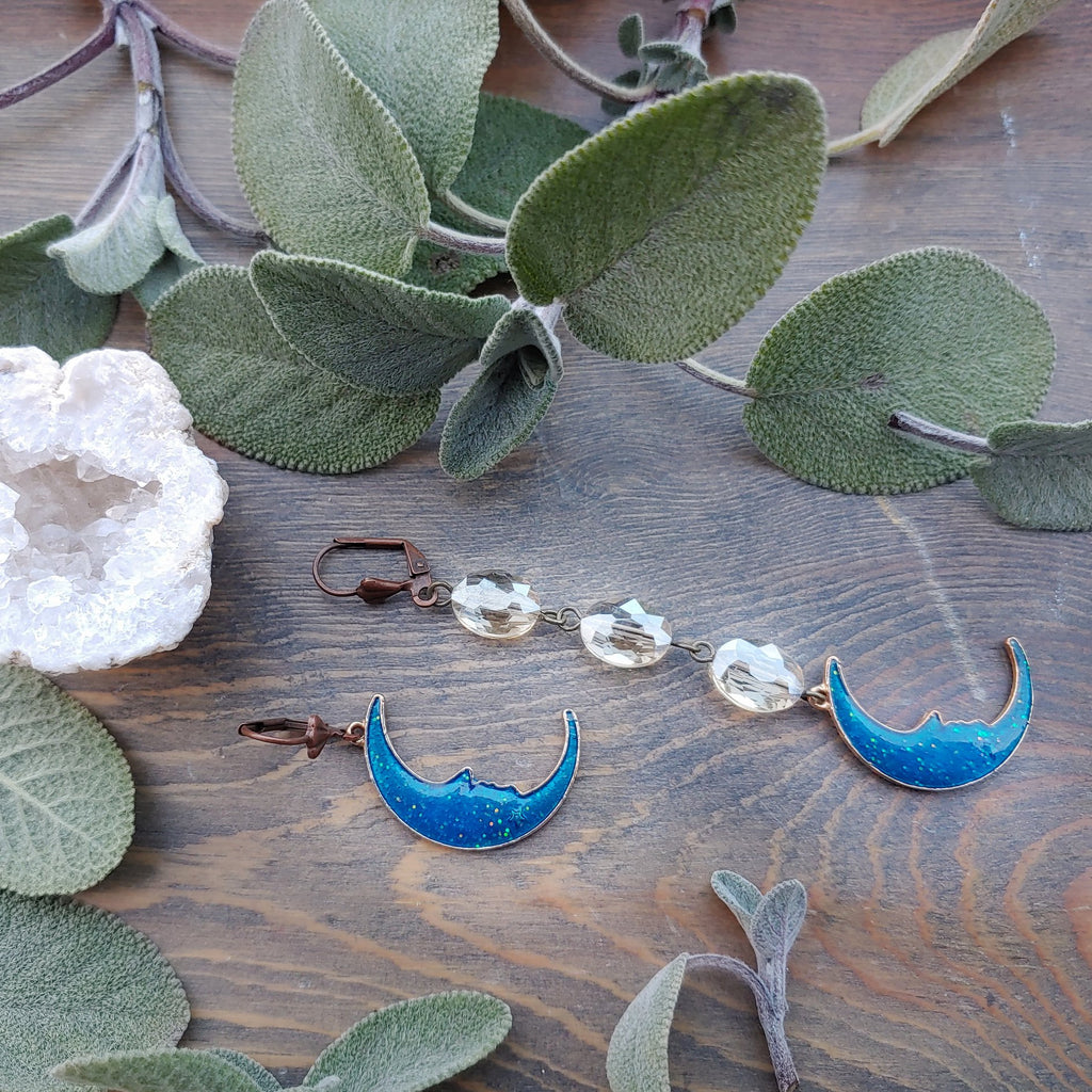 Mystic Blue Moon Earrings